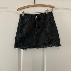 American Eagle Distressed Mini Skirt